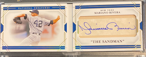 "MARIANO RIVERA - 2020 Baseball National Treasures ""Cut Signature Booklets"" Auto 4/10"