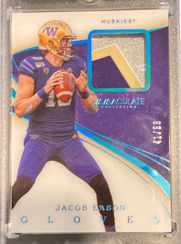 JACOB EASON - 2020 Football Immaculate Collegiate Gloves Rookie 41/56
