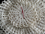 Bundled Set of 7 Vintage Crocheted Lace Doilies - 3 Sizes