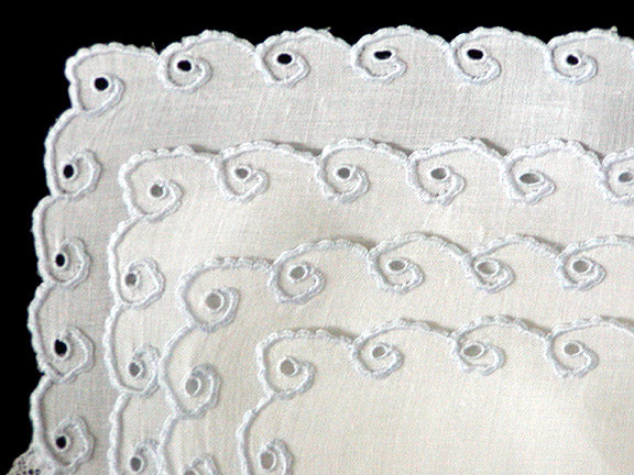 Set of 4 Madeira Vintage Linen & Lace Placemats MWT