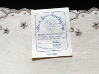 Madeira Vintage Embroidered Linen Placemats - 9x13, Set of 4