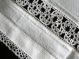 Fancy White Vintage Guest Towel with Tatted Lace
