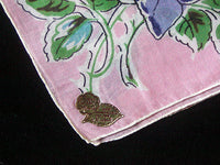 June Flower of the Month Roses Vintage Handkerchief, Kimball
