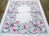 Japanese Lantern Vintage Tablecloth 50x62