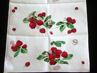 Strawberry Vintage Wilendur Strawberries Tea Towel Kitchen Tea Towel, NOS