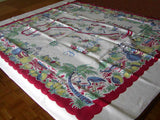 Colorful Florida Souvenir Vintage Tablecloth 46x52