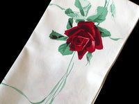 American Beauty Wilendur Red Rose Vintage Kitchen Towel - NOS