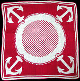 Anchors Away Nautical Vintage Handkerchief