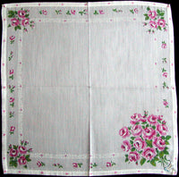Roses Vintage Handkerchief of the Month Burmel As Seen in Vogue