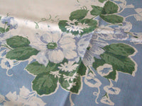 Old Fashioned Floral Print Vintage Tablecloth, 48x54