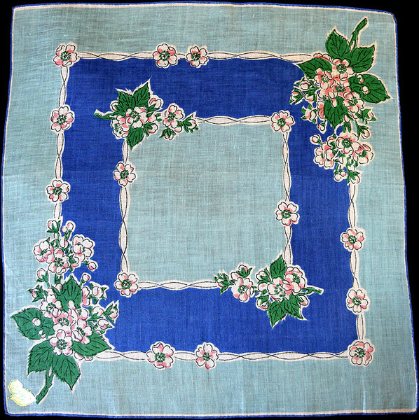 Hawthorn Lily of Valley Vintage Handkerchief Flower of the Month