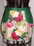 Childs Floral Rose Print Polished Cotton Vintage Apron