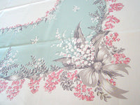 CHP Lily of the Valley Vintage Tablecloth  52x62