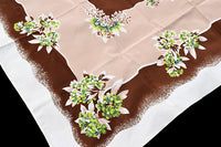 CHP Rhododendron Vintage Tablecloth 52x63, Hermosa Cloth