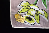 March Flower of the Month Vintage Linen Handkerchief, Kimball
