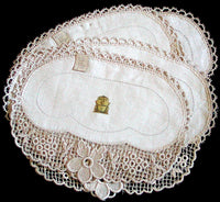 Linen & Lace Vintage Doilies, Set of 6