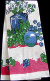 Fruit & Floral Vintage Startex Kitchen Towel, Red