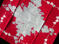 CHP Gray Ivy on Red Vintage Kitchen Towel, Tea Towel, Dish Towel