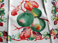 Green Fruit & Floral Vintage Kitchen Tea Towel New Old Stock