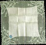 Brodie Mint Green Embroidered Lace Wedding Handkerchief MWT