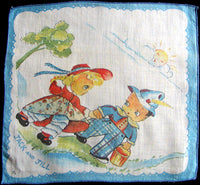 Jack and Jill Vintage Child's Handkerchief