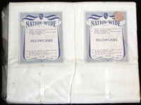 New Old Stock Pair of J.C. Penney Vintage Cotton Pillowcases