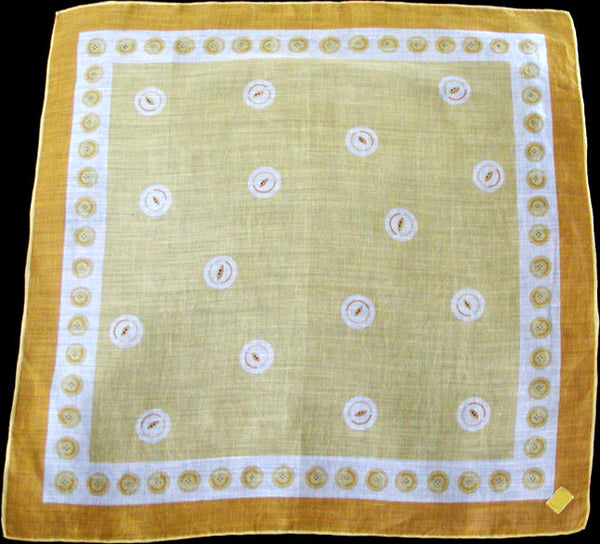 Buttons by Kimball Yellow Vintage Handkerchief