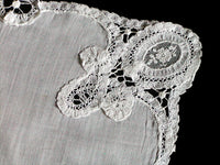 Antique Handmade Lace Heirloom Wedding Handkerchief