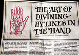 The Art of Divining By The Lines In The Hand Vintage Tea Towel