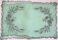 Vintage Marghab Green Margandie Wheat Placemats