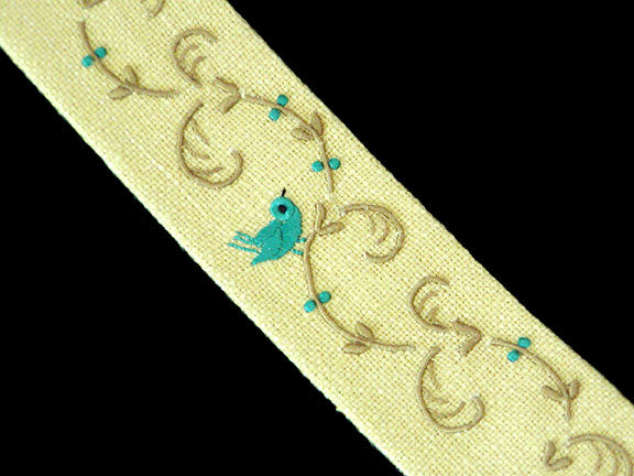 Marghab Yellow Linen Bookmark w Letter of Authenticity