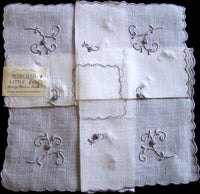 Marghab Little Roses Vintage Handkerchief Madeira Portugal MWT