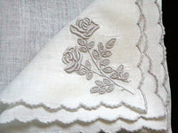 Marghab Rose Vintage Handkerchief Madeira Portugal