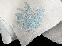 Marghab Violets are Blue Vintage Handkerchief Madeira Portugal