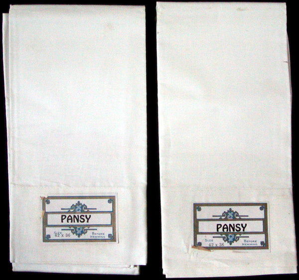 New Old Stock Vintage Cotton Pillowcases by Pansy, Pair