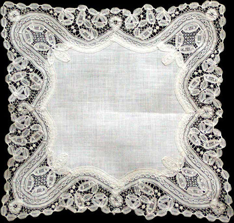 Antique Princess Lace Wedding Handkerchief