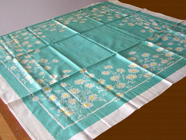Queen Anne Indian Head Daisy Vintage Tablecloth 43x43 - Unused