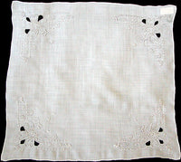 Madeira Embroidered Cutwork Rayon Handkerchief Desco MWT