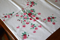 Princess Rose Wilendur Vintage Tablecloth 50x54