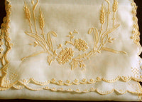 Marghab Wheat Vintage Table Runner, Yellow Margandie