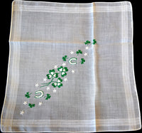 Luck of the Irish St Patrick's Day Vintage Handkerchief
