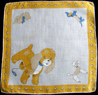 Stuffed Doggies Vintage Child's Handkerchief