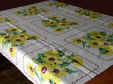 Sunflower Vintage Wilendur Tablecloth 49x54
