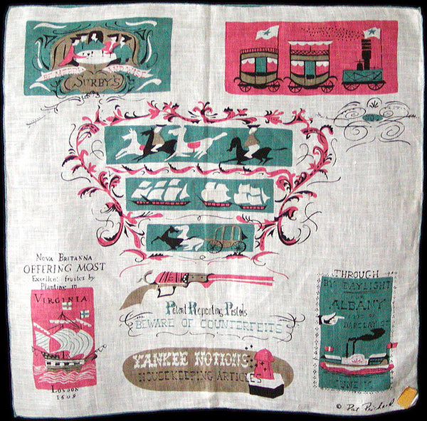 Yankee Notions Vintage Pat Prichard Handkerchief MWT
