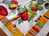 Wilendur Manjares Pottery and Gourds Vintage Tablecloth 34x34