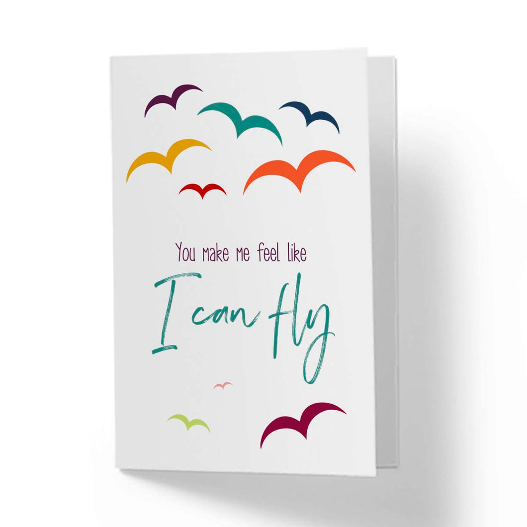 Flevor card - You make me feel like I can fly