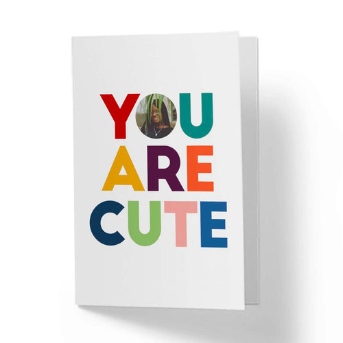 Flevor card - You're Cute - Picture insert