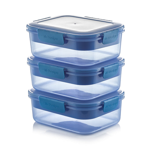 Fresco Lunch Box Pack of 3 - 2100ml - Free 9 Pc. Cutlery Set