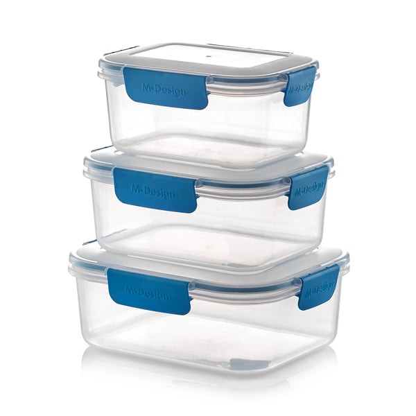 Fresco Food Container Set - 1100ml, 1600ml & 2100ml