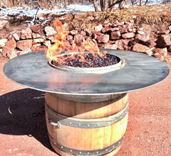 busted barrel fire table